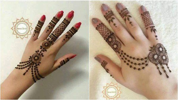 right hand back side mehndi
