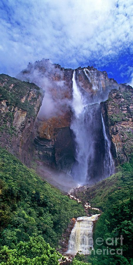 Panorama Angel Falls Canaima National Park Venezuela