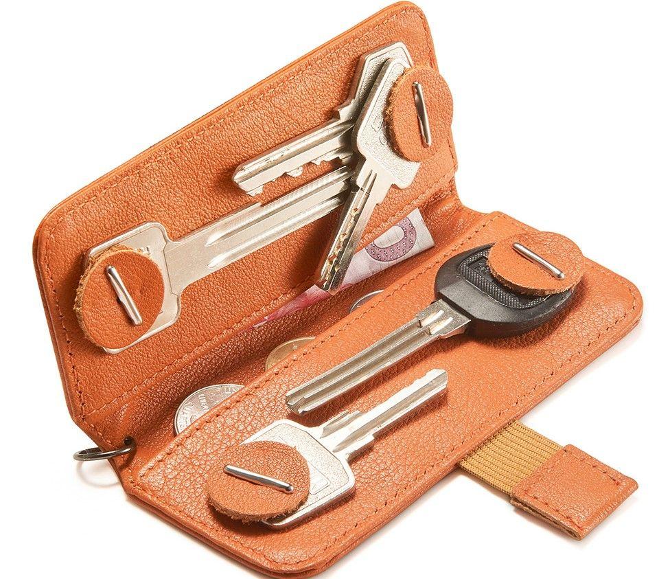 US Car Key Wallet Key Holder Keychain Zipper Case Bag Organizer Pouch Purse tall