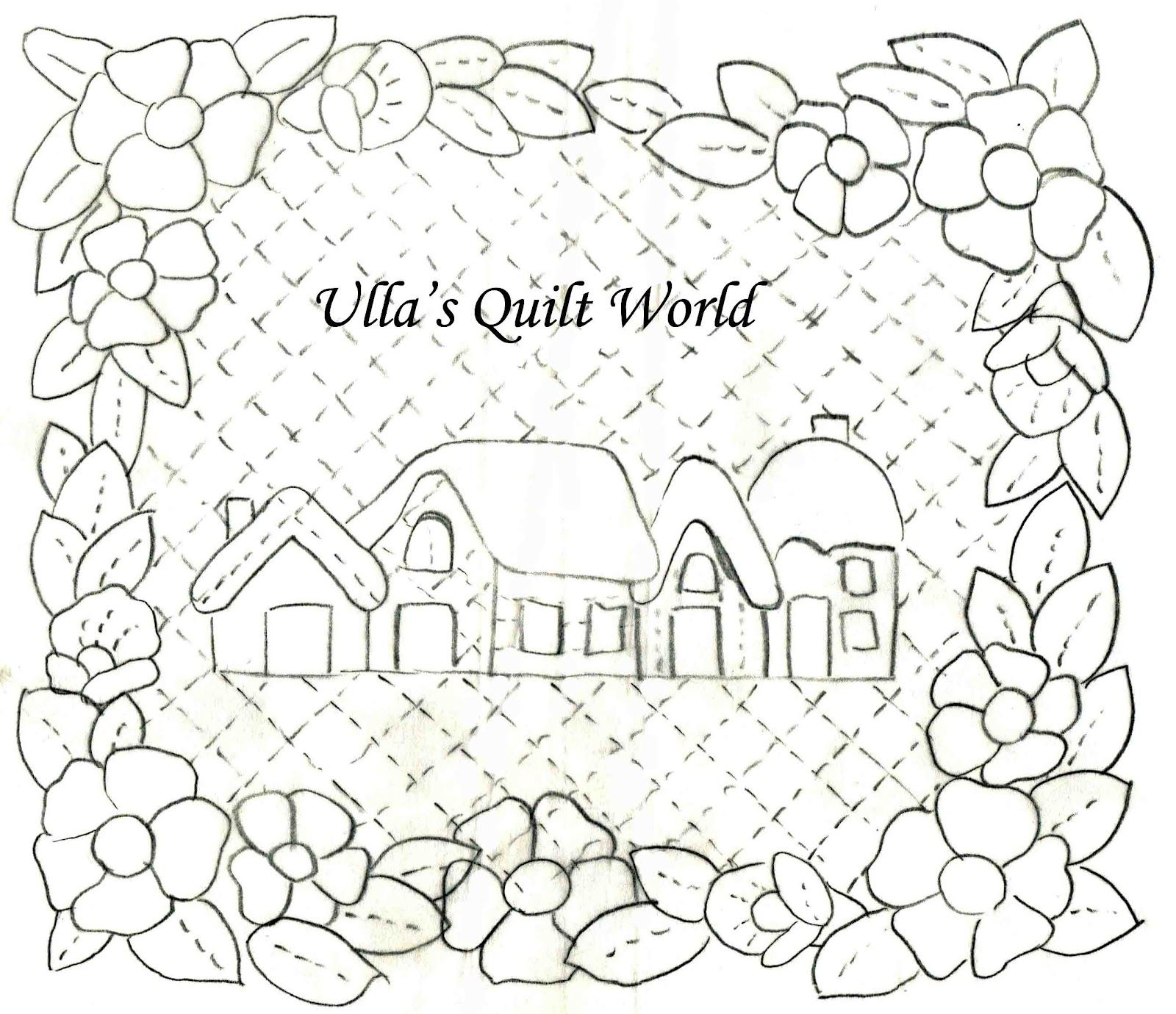 Ulla's Quilt World: Quilted wall hanging, Houses and
