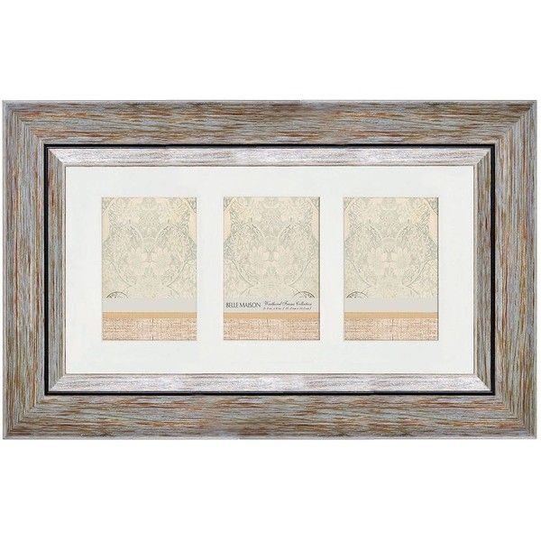 Belle Maison Weathered 3-Opening 4\'\' x 6\'\' Collage Frame ($30 ...
