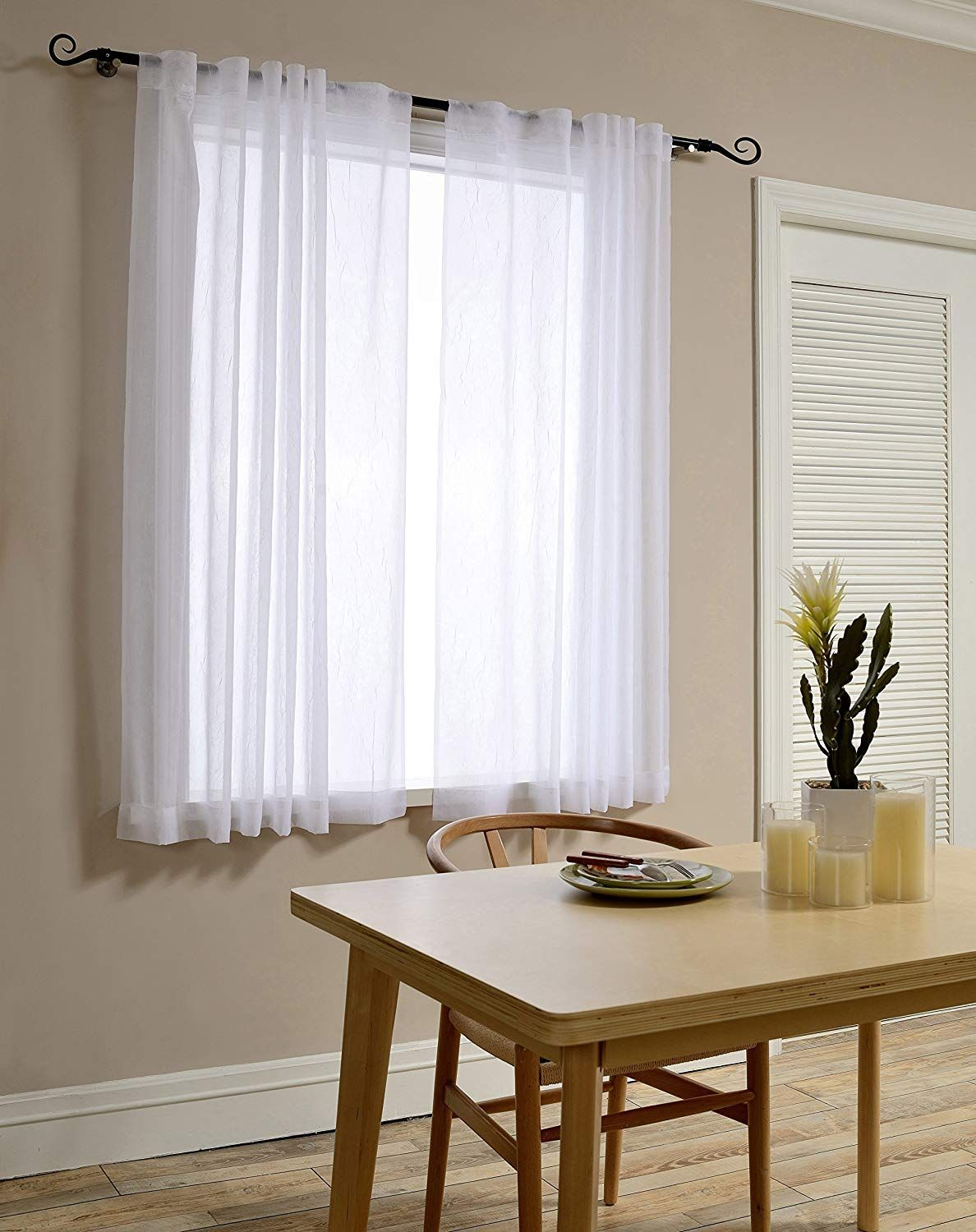 Sheer Curtain Panels Ease Bedding With Style Sheer Curtain