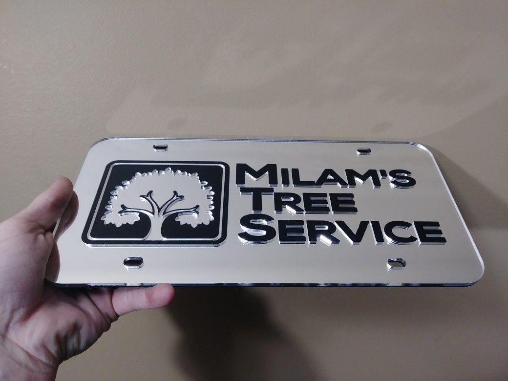 Custom Mirror License Plate, Car Tag, Personalized Car Tag