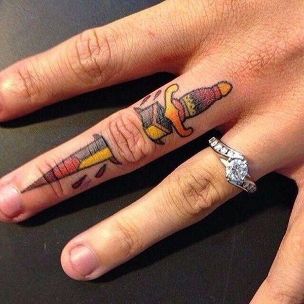 250 Finger Tattoos 9 Is Best Finger Tattoo Designs Sword