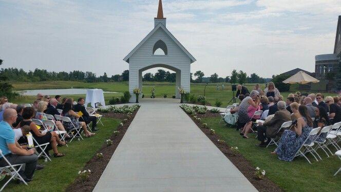 Outside Wedding Chapel At The Legacy In Ottawa Lake Michigan