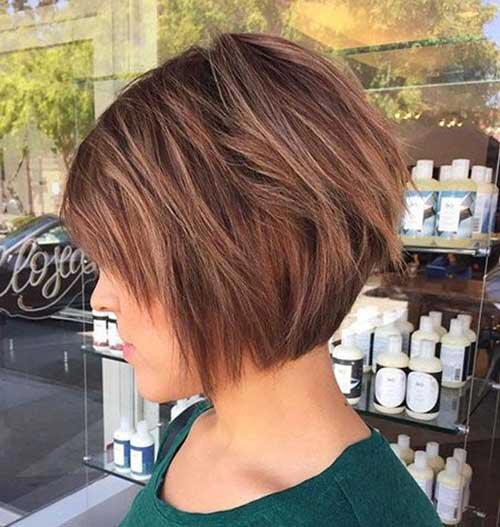 18 Fresh Short Layered Hairstyles Short Layered Hairstyles Layeredbobhairstyles Coupe Carre Plongeant Carre Plongeant Cheveux Fins Coupe Carre