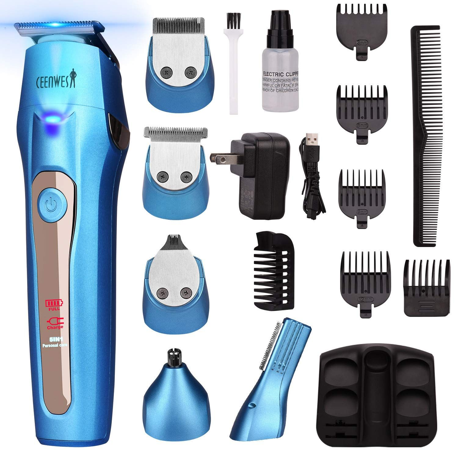 Ceenwes Cool 5 In 1 Mens Grooming Kit Professional Beard