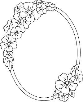 Flower Frame Flower Drawing Design Floral Border Design Flower