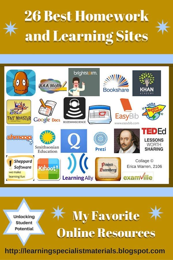 26 Best Homework and Learning Sites   Learning sites, Homework and ...