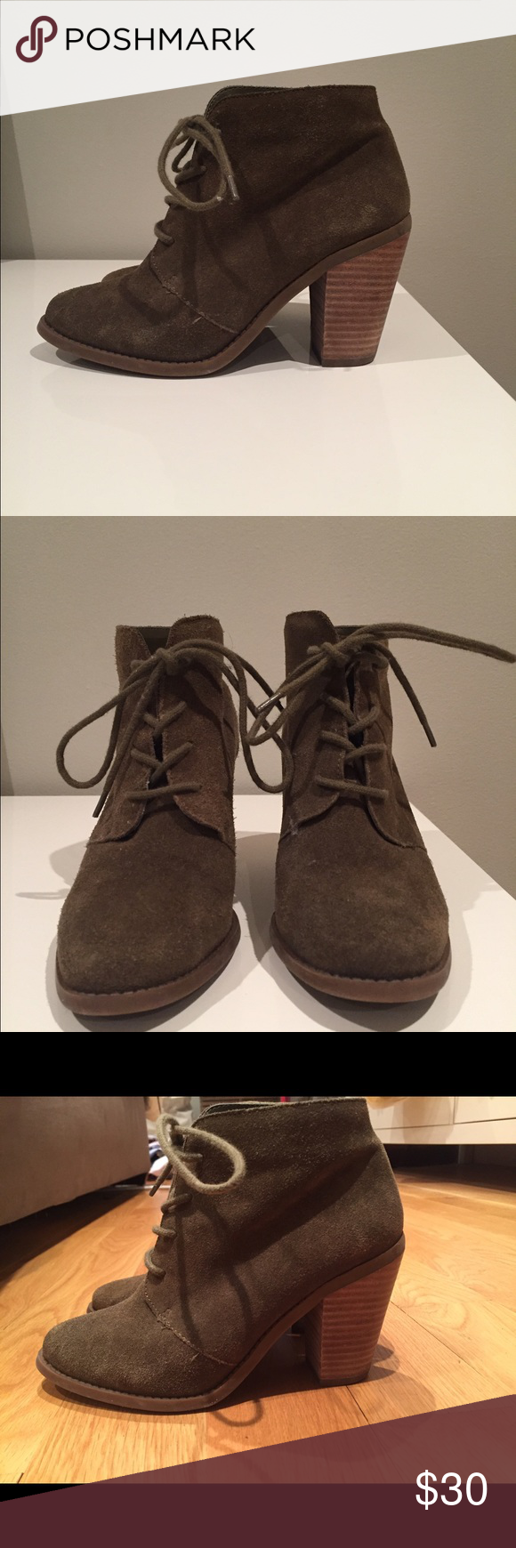 Jessica Simpson Suede lace up booties Love suede lace up Jessica Simpson Shoes Ankle Boots & Booties