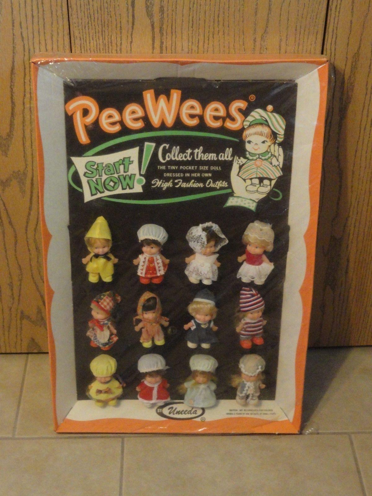 Vintage Pee Wee Uneeda Store Display 12 Dolls Lot 1965
