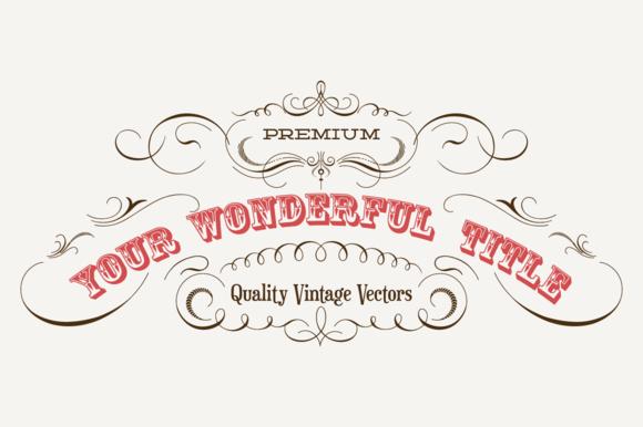 Vintage Vector Labels N°5 by webalys on @creativemarket