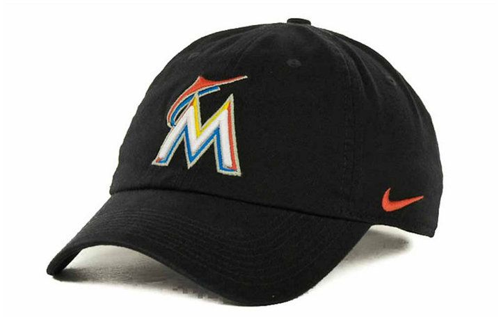 Stay cool in style with this MLB Stadium cap, featuring an authentic Miami Marlins team logo and a Dri-FIT technology sweatband. Low crown Relaxed fit Normal bill Embroidered team logo at front Nike Swoosh logo at left side Dri-FIT sweatband Adjustable D-clip closure Cotton Spot clean