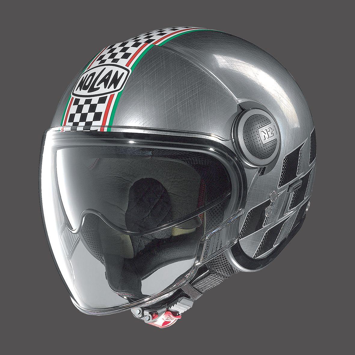casco moto jet nolan n21 visor scratched chrome asso. Black Bedroom Furniture Sets. Home Design Ideas