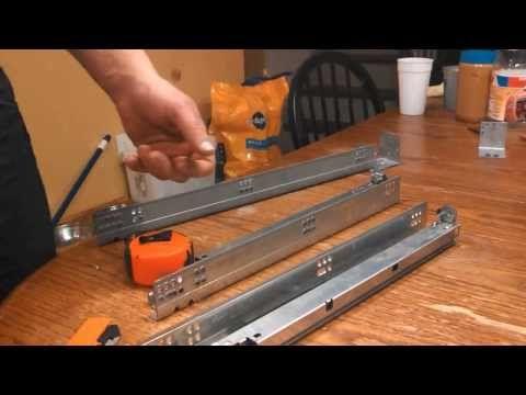 Dresser Drawer Repair, Installing Under-Mount Drawer Slides ...