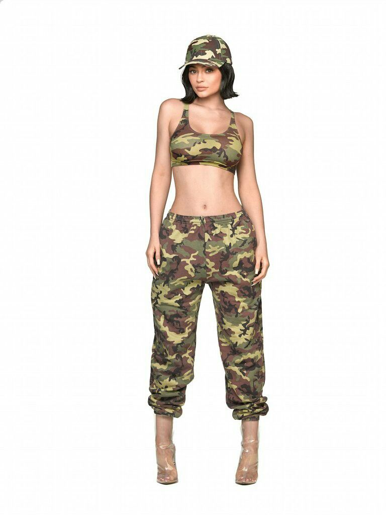 Camo Dad Hat + Camo Crop Top + Camo Sweatpants (Green Set)  16d4a11ab6a2