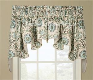 Paisley Prism Duchess Swag Window Valance Shabby Chic Bathroom Valance