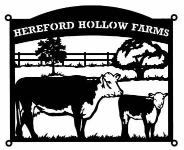 Hereford Hollow Farms Sign