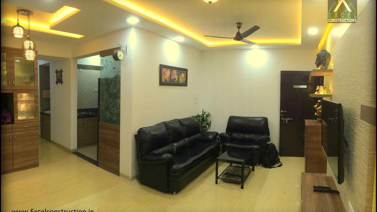 2 Bhk Apartment Interior Design At Petals Wakad Pune Excel Constructions Interior Designers Apartment Interior Design Apartment Interior Interior Design