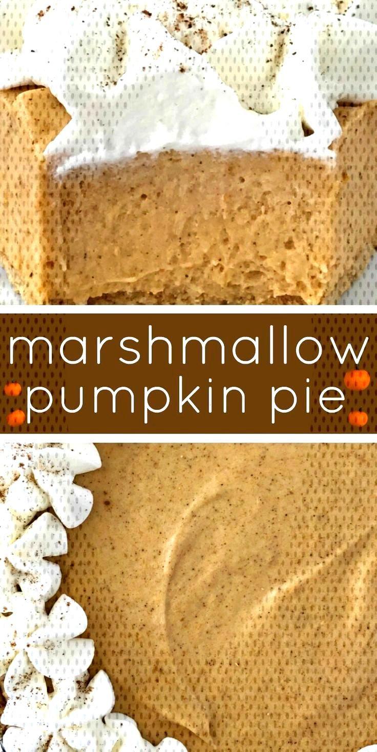 No Bake Marshmallow Pumpkin Pie | No Bake Pumpkin Pie | Pumpkin Recipes | No bake pumpkin pie with