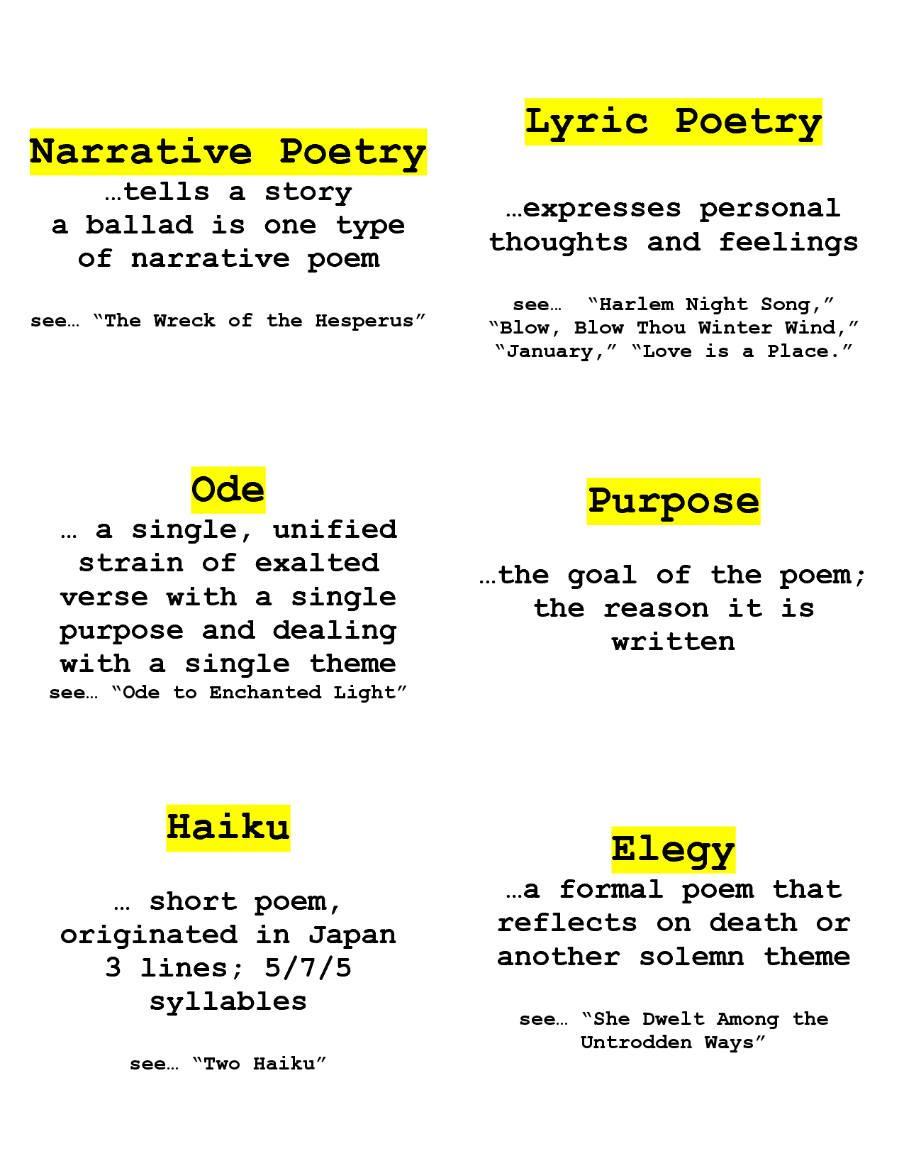 narrative poem definition and examples - google search | poetry and