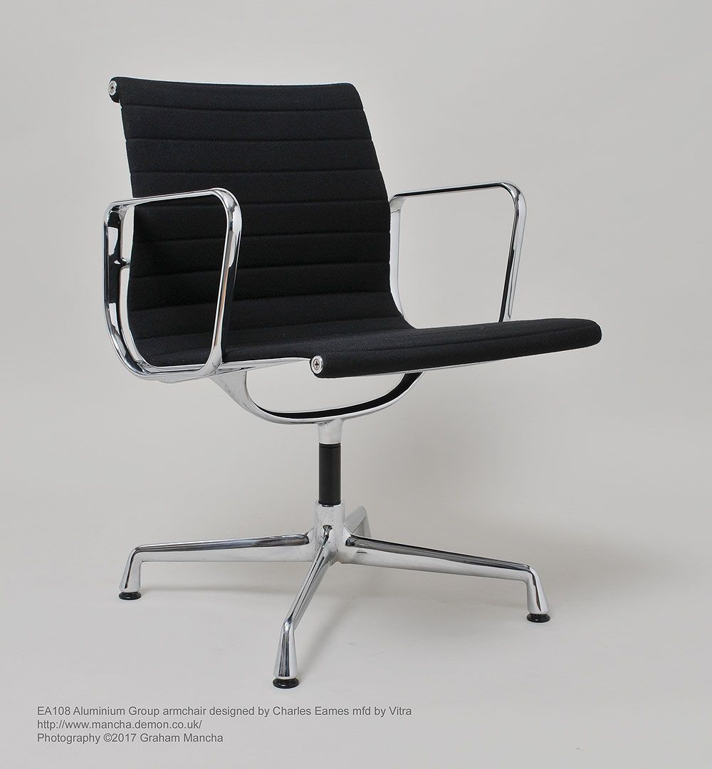charles eames aluminium group armchair model ea108 upholstered in
