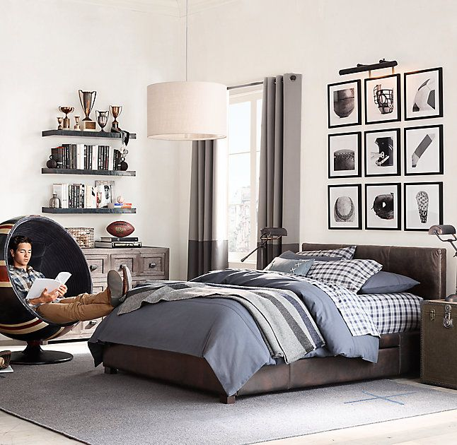 Industrial Metal Wrapped Floating Shelf Iron Boys Bedroom
