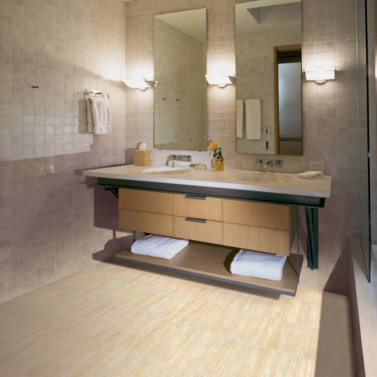 COREtec Tile Ankara Travertiine 50LVT104 Coretec, Luxury