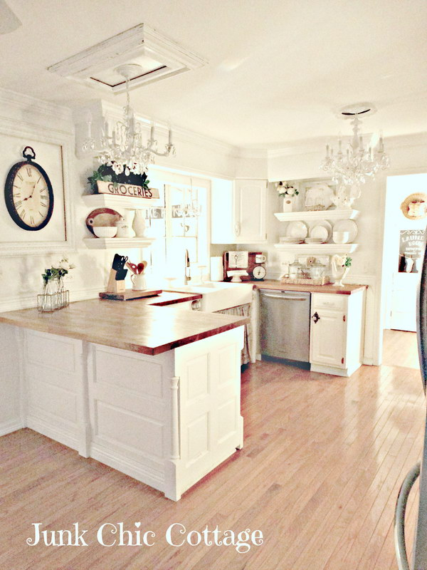 Best 50 Sweet Shabby Chic Kitchen Ideas 2018 Shabby Chic 400 x 300