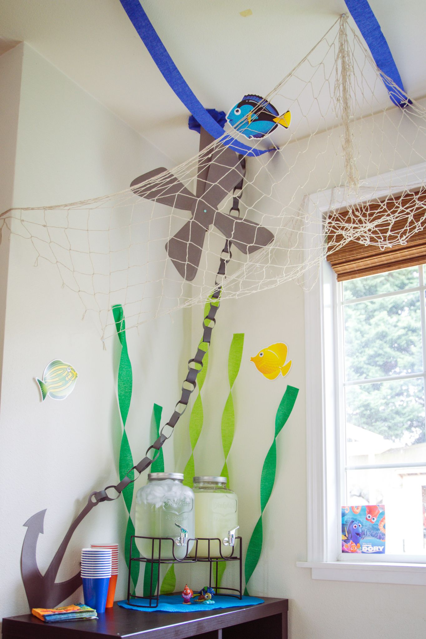 Finding Dory Party decoration idea #FindingDoryParty #FindingNemoParty