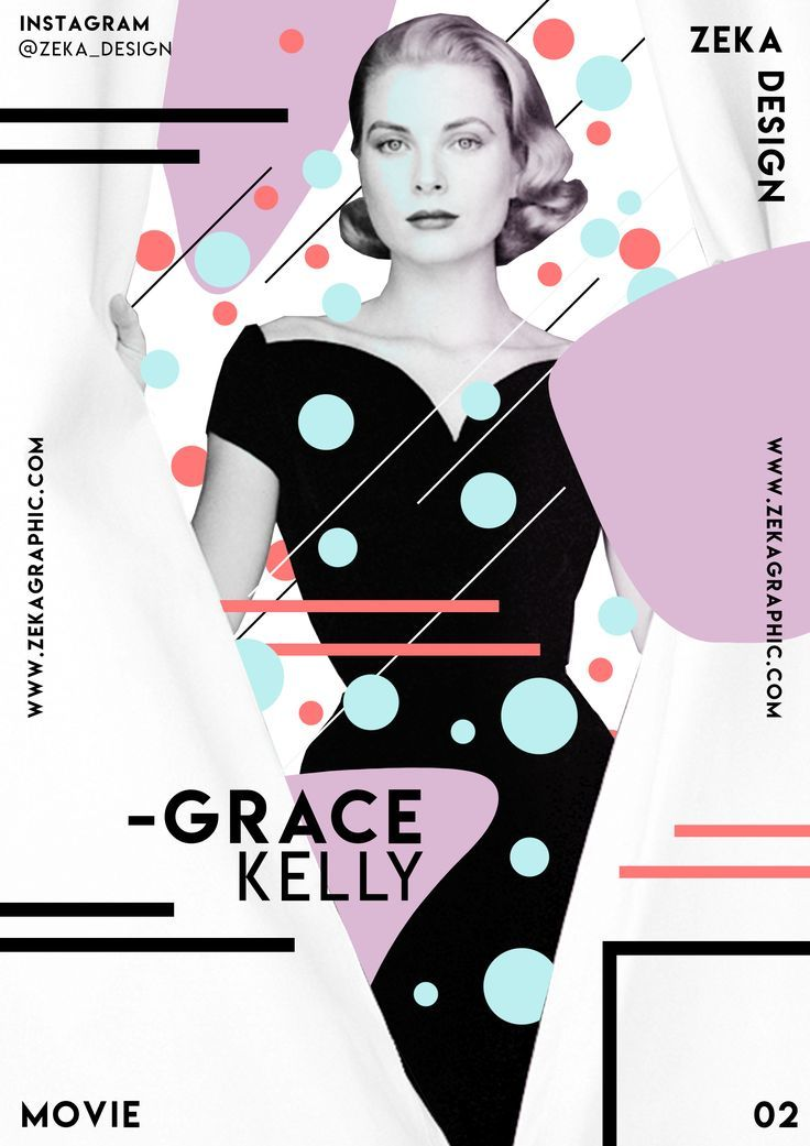 Creative Graphic Design Poster Grace Kelly Movie Collection 02 Zeka Design #design #graphicdesign #art #memphisdesign