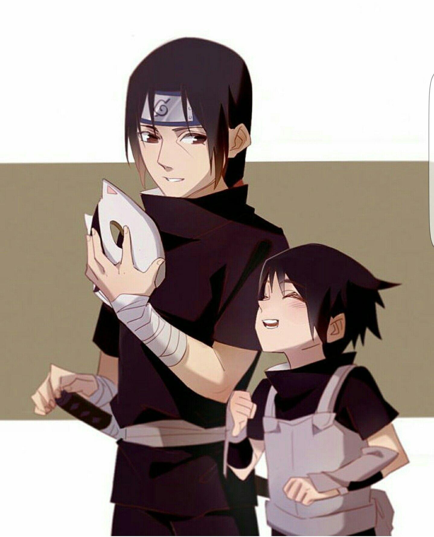 Sasuke, Itachi, Uchiha Brothers, Cute, Anbu, Mask, Young