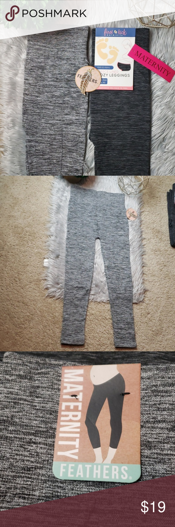 24564e16192fb [2] Fleece Lined Cozy Maternity Leggings First Kick   One Size Fits All    67% Polyester 27% Nylon 6% Spandex   13