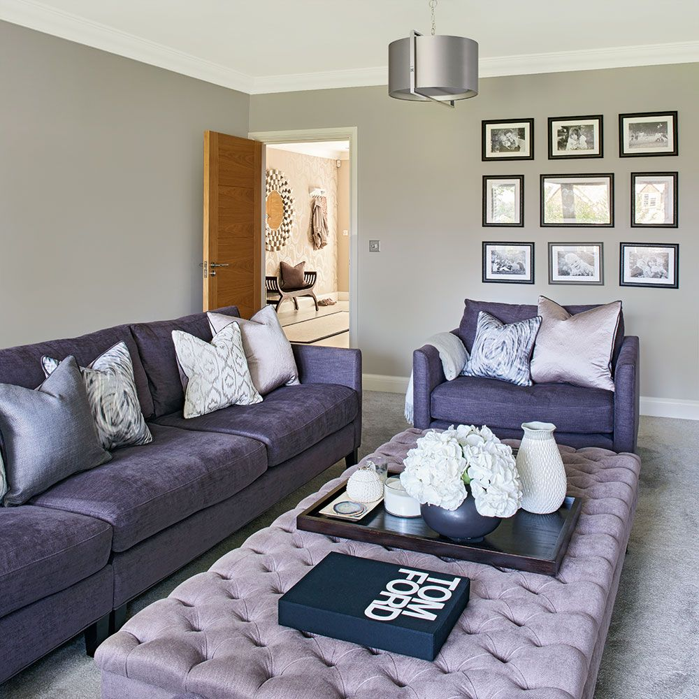 42+ Grey lilac living room ideas info