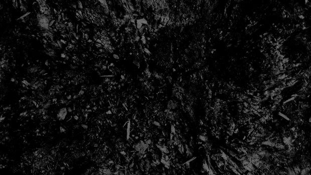 Black Dark Rough Texture Coal Like Pattern Abstract