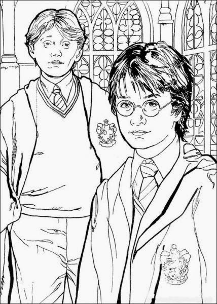 Harry Potter Rony E Hermione Jogos Para Criancas De Pintar Com
