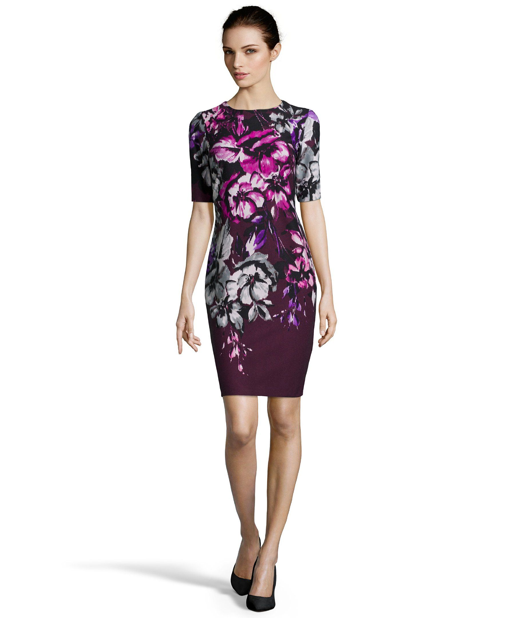 Taylor sheath dress stretches floral and printing