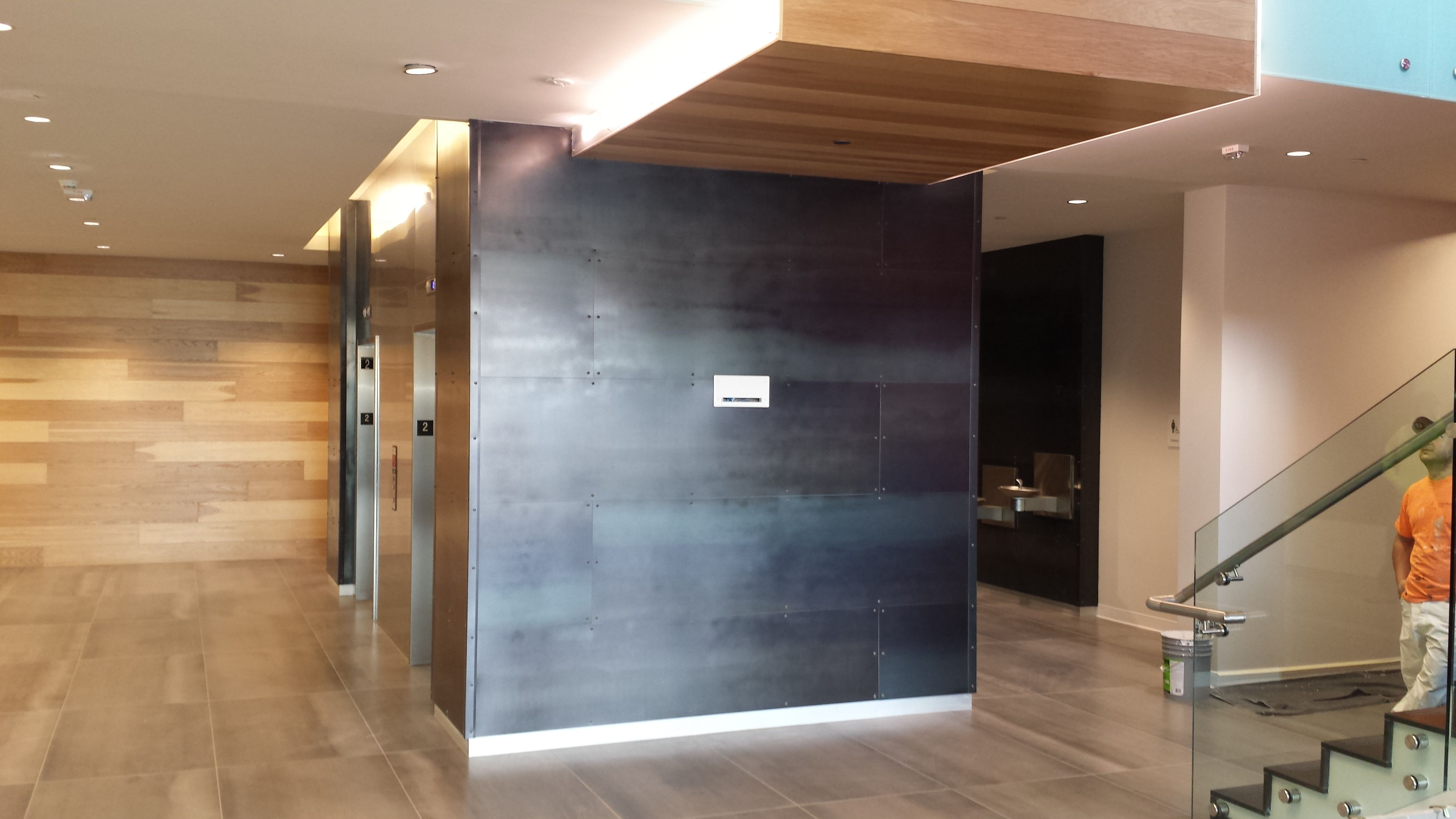 Elevator Lobby Hot Rolled Steel Wall Panels Sheet Metal Wall