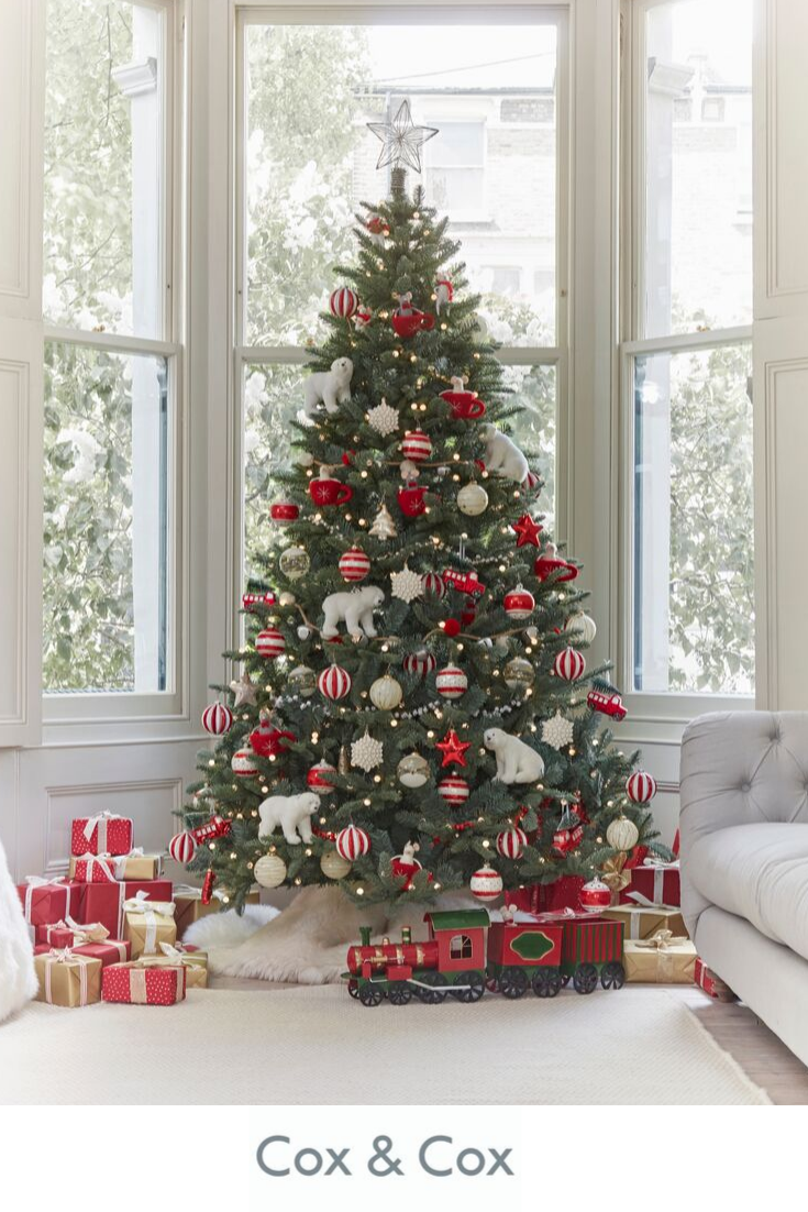 Albero Natale Decorato Rosso pin di maria antonietta finelli su albero natale