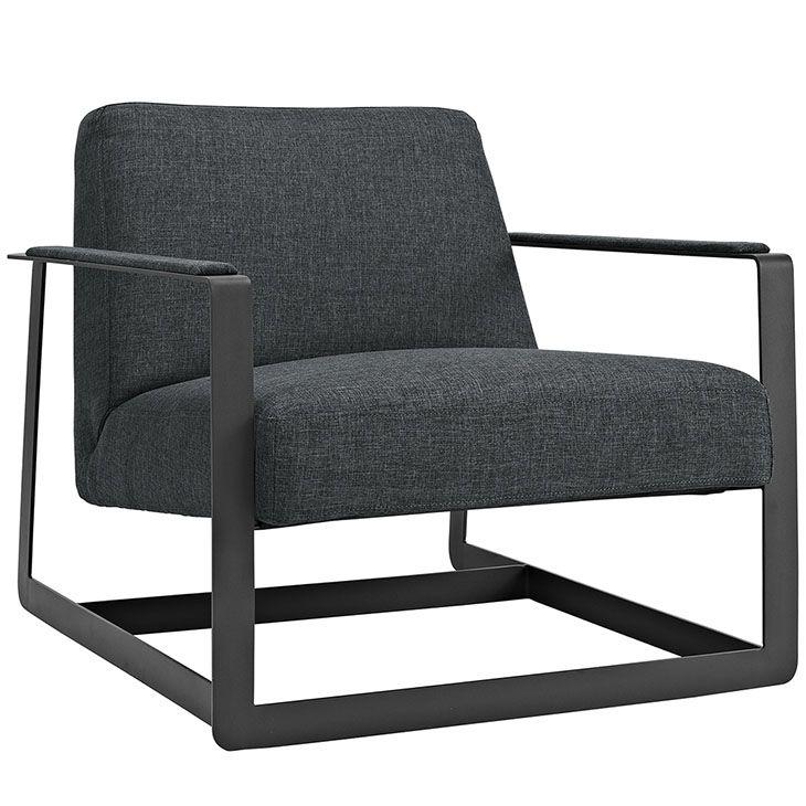 LexMod - Seg Fabric Accent Chair