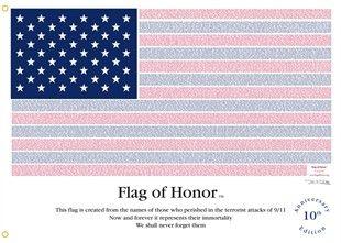 Flag Of Honor September 11th Honor Flag Flag Sticker Flag