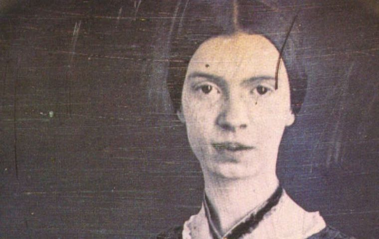 Currently only authenticated photograph of Emily Dickinson in existance, taken by William C. North ca 1847 when Emily was 17 years old.