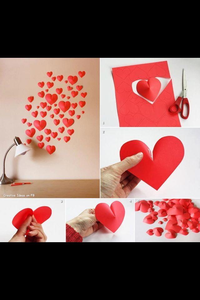 Valentines Day Decorations Festa Pinterest San Valentin - Decoracion-san-valentin-manualidades