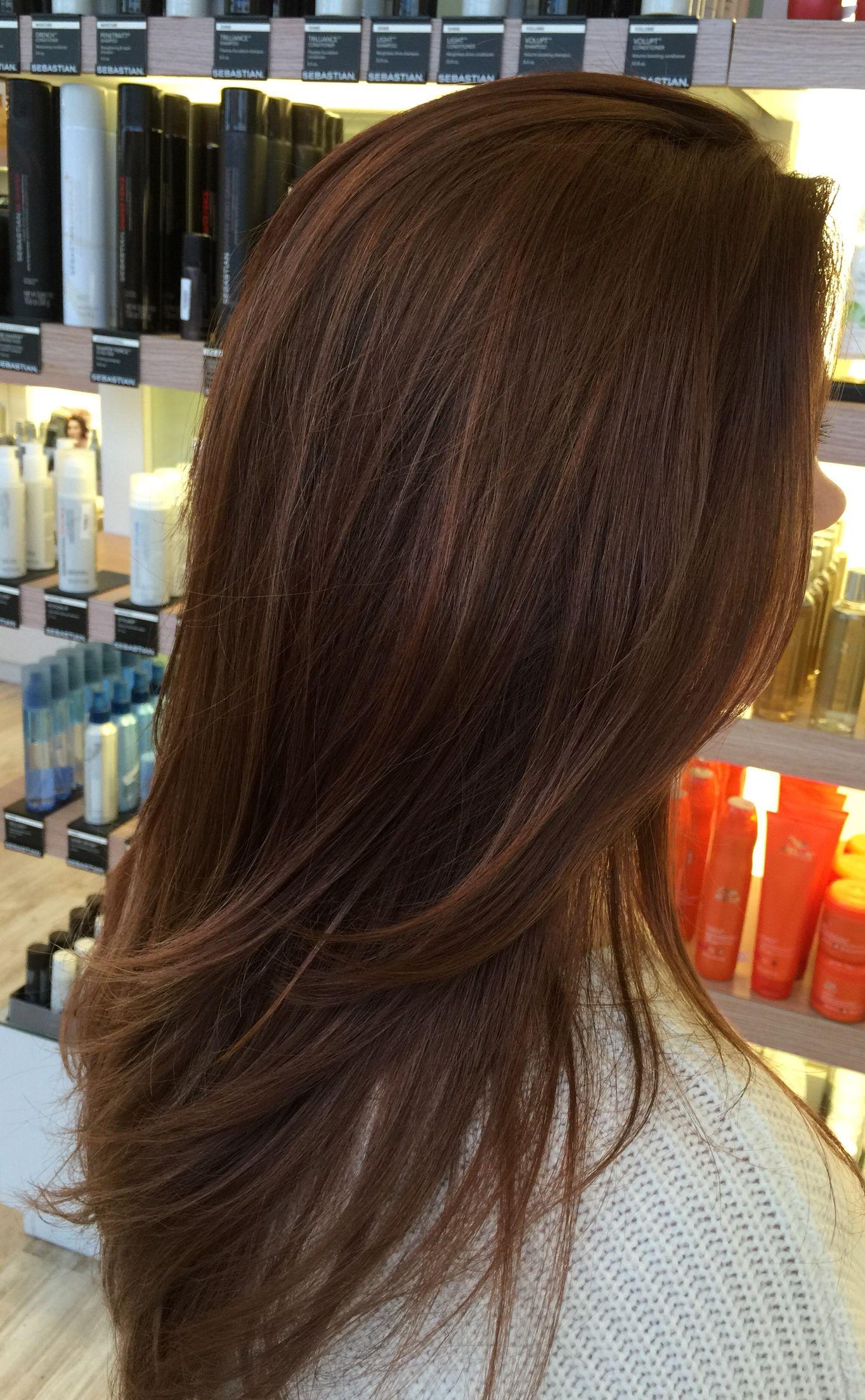 Reddish Brown Toner Redish Brown Hair Brunette Hair Color Pretty Hair Color