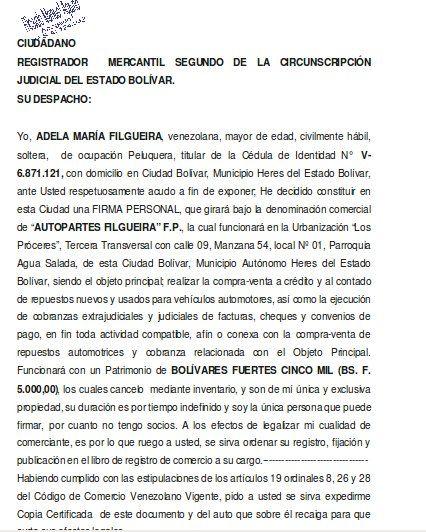 Firma Personal Acta Compra Venta Y Cobranza De Repuestos Automotrices Formatos Y Modelos Legales Firmas Personales Firma Compras