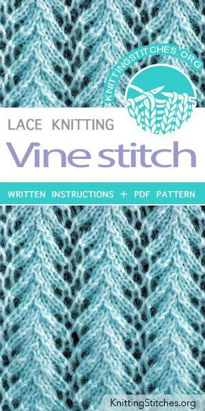 Vine Stitch Pattern is found in the Eyelet and Lace Stitches category. FREE writ…