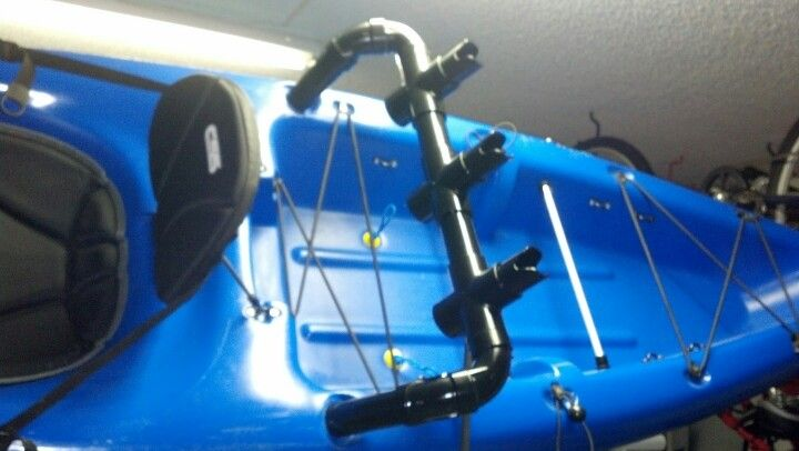 My diy pvc kayak rod holder for Kayak fishing pole holder