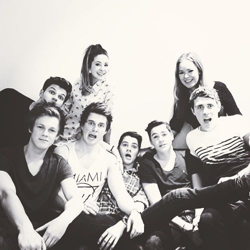 Caspar, Jack, Finn, Jim, Marcus, Zoella and Alfie