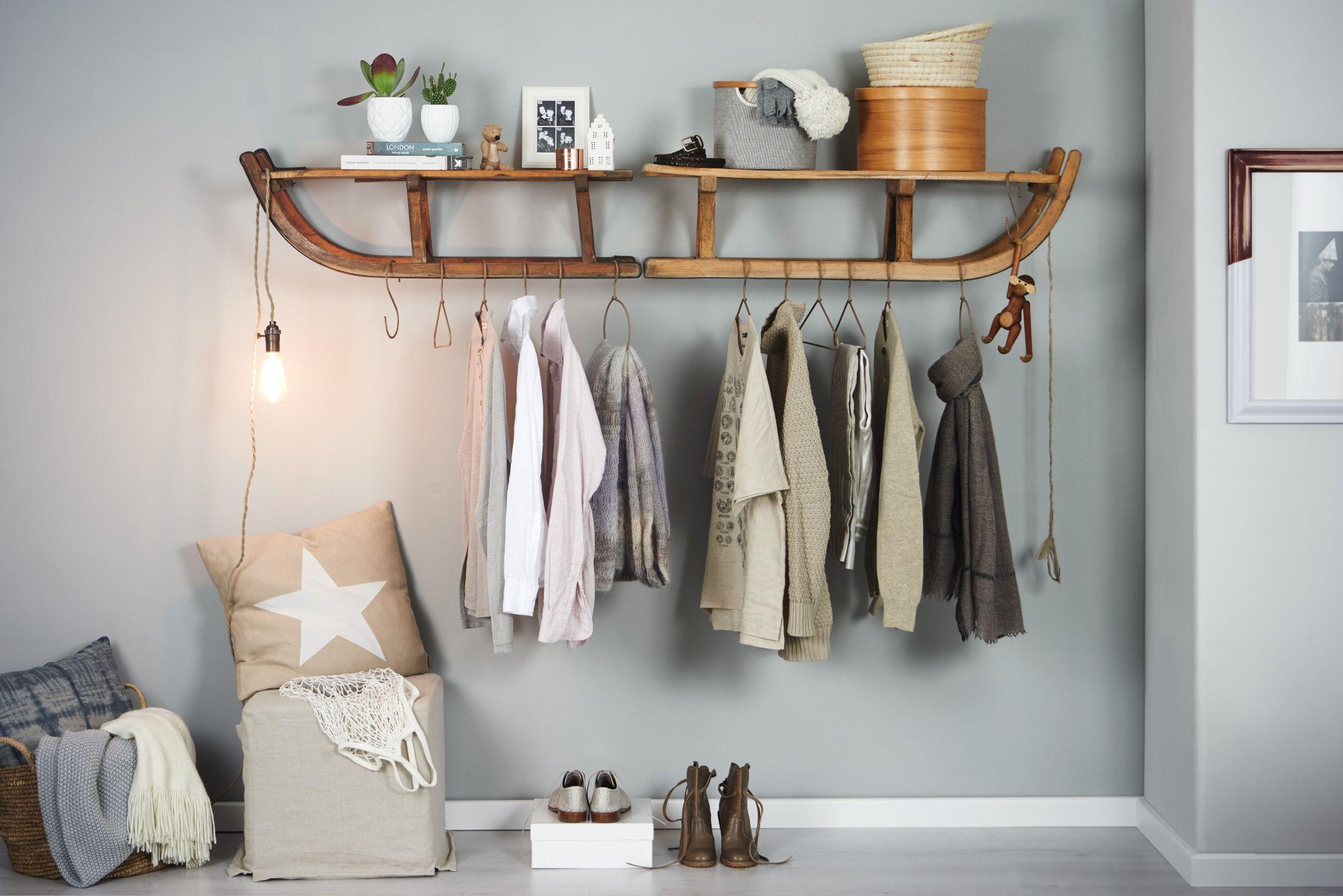 schlitten-garderobe selbst bauen, do-it-yourself-projekt | ideen