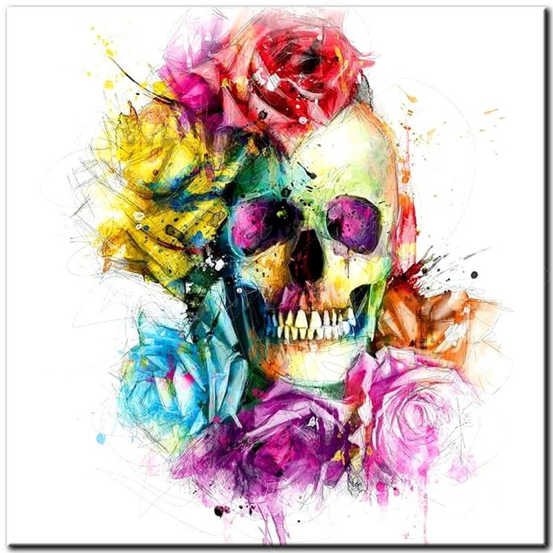Skull Butterfly 5D Diamond Embroidery Painting Cross Stitch Home Decor DIY